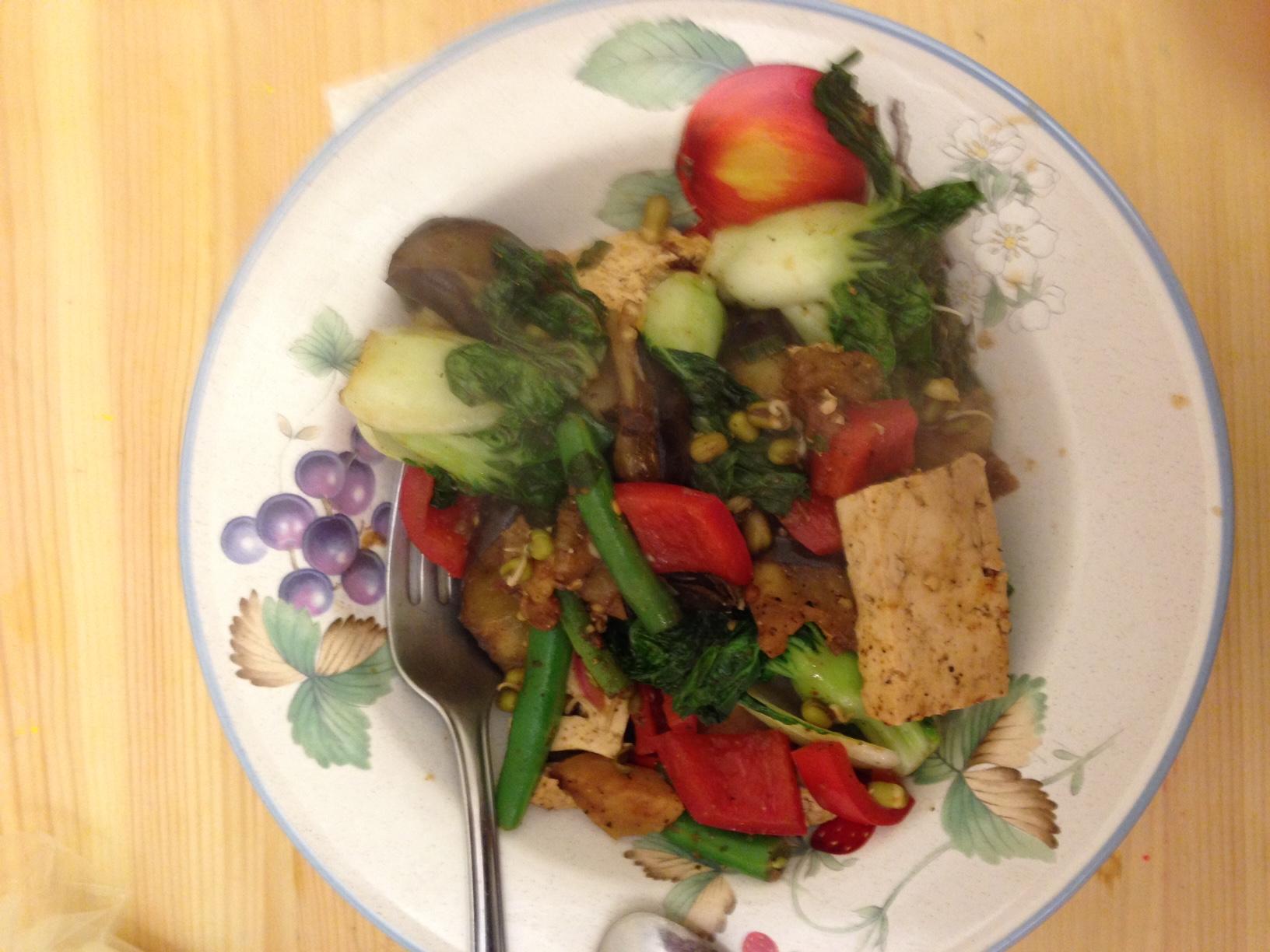 vegan eating food
